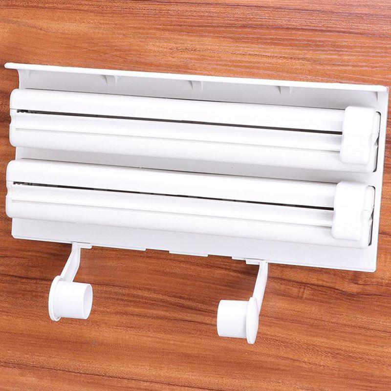 Dispenser Papel Toalha Rolo Triplo Porta  Aluminio Filme  Cozinha
