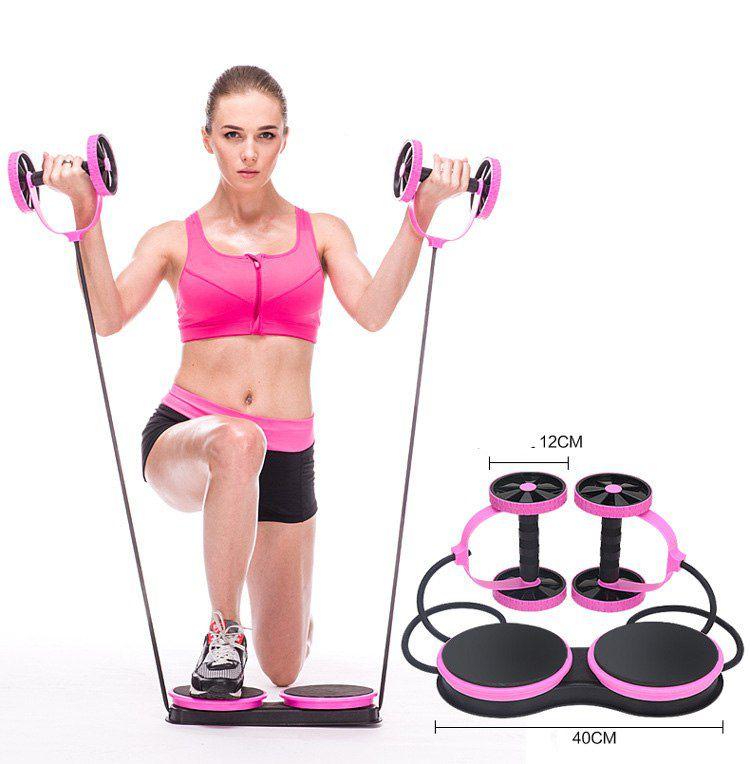 Elastico Revoflex Roda Exercicio Abdomen Musculacao Funcional