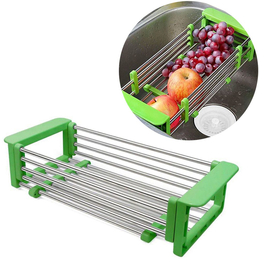 Escorredor de Legumes Verduras Lava Frutas Retratil Expansivel Pia Cozinha