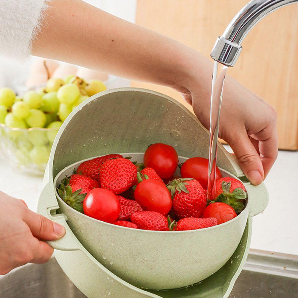 Escorredor Secador Nao Derruba Macarrao Cozinha Frutas Legumes Bacia 29cm Ecologico
