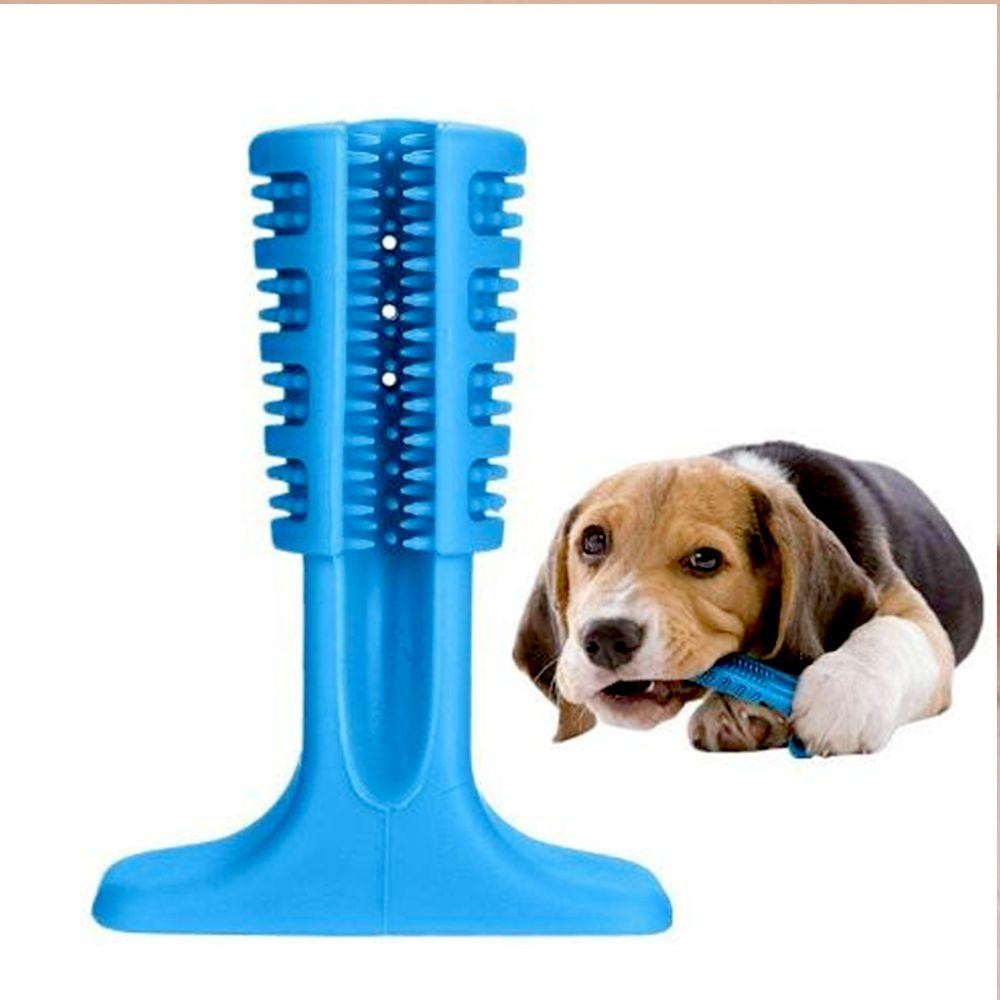 Escova Dentes Canina Mordedor Cachorro Limpeza Cao Pet Remove Tartaro