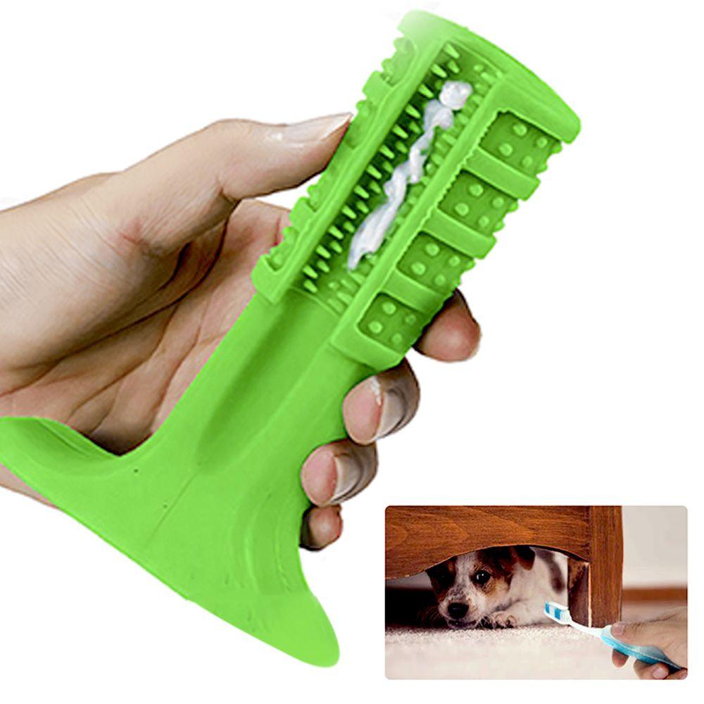 Escova Dentes Canino Mordedor Cachorro Limpeza Pet Cao Remove Tartaro Medio