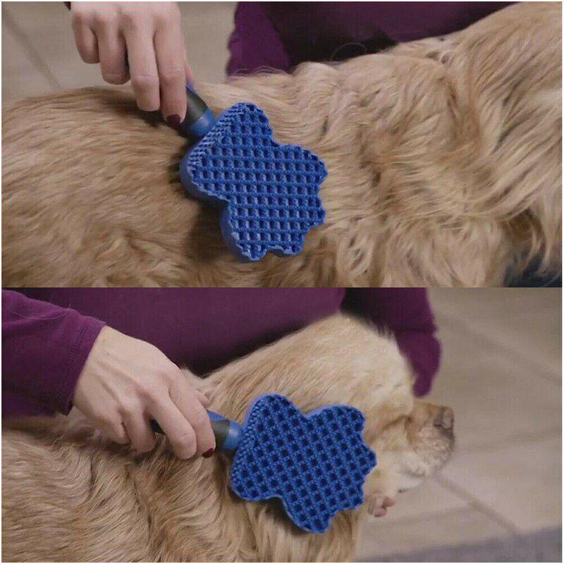 Escova Tira Pelo Cachorro Gato Silicone Massagem Higiênica