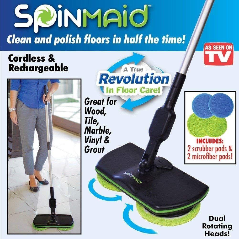 Esfregao Recarregavel Eletrico Limpeza Mop Rotacao Rodo (BSL1929)