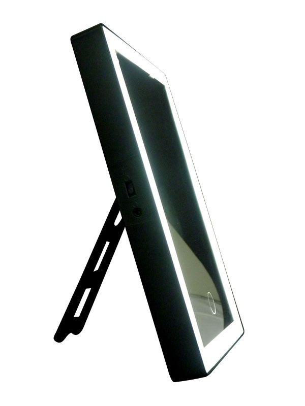 Espelho Com Led Maquiagem De Mesa Iluminador Touch Preto (BA-32082)