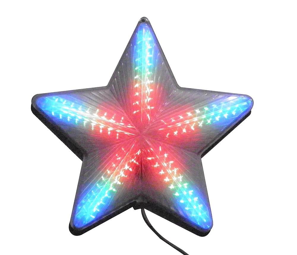 Estrela de Natal Pisca Pisca de Led Grande Efeito Decorativa Colorida 127v (JA-81124-color)