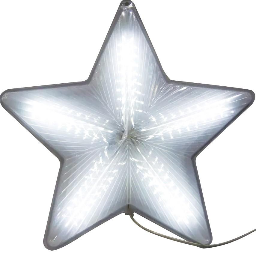 Estrela de Natal Pisca Pisca Grande Bivolt de Led Efeito Natalino Branca (JA-81124)