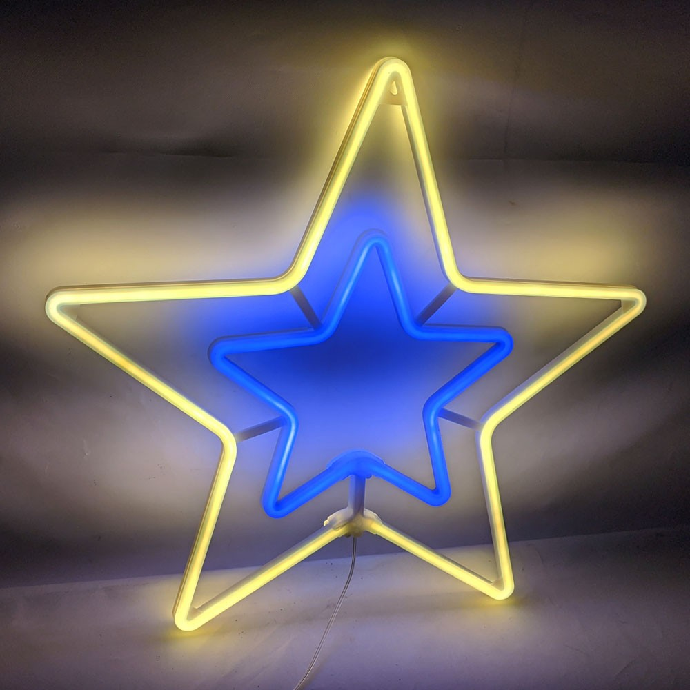Estrela Pisca Pisca Natal Decoracao Enfeite Natalino Branco Quente Iluminaçao