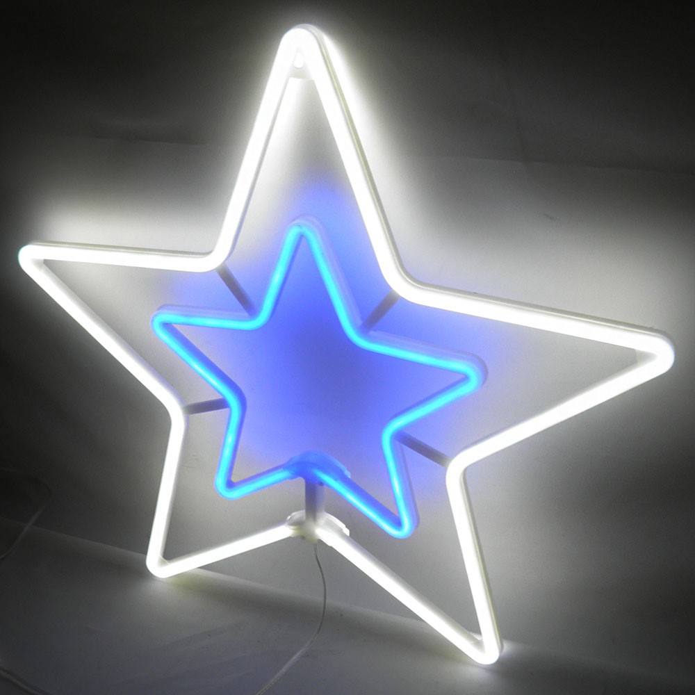 Estrela Pisca Pisca Natal Decoracao Enfeite Natalino Branco Frio Luz Iluminaçao