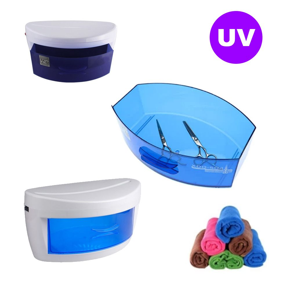 Estufa Esterilizadora Luz Ozonio UV Barbearia Salao Beleza Manicure Alicate