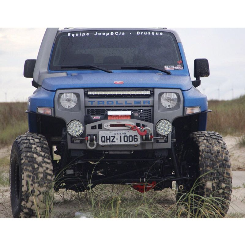 Farol De Milha Carro 14 Leds Lancha Barco Jeep Kit 2 Refletor 42w