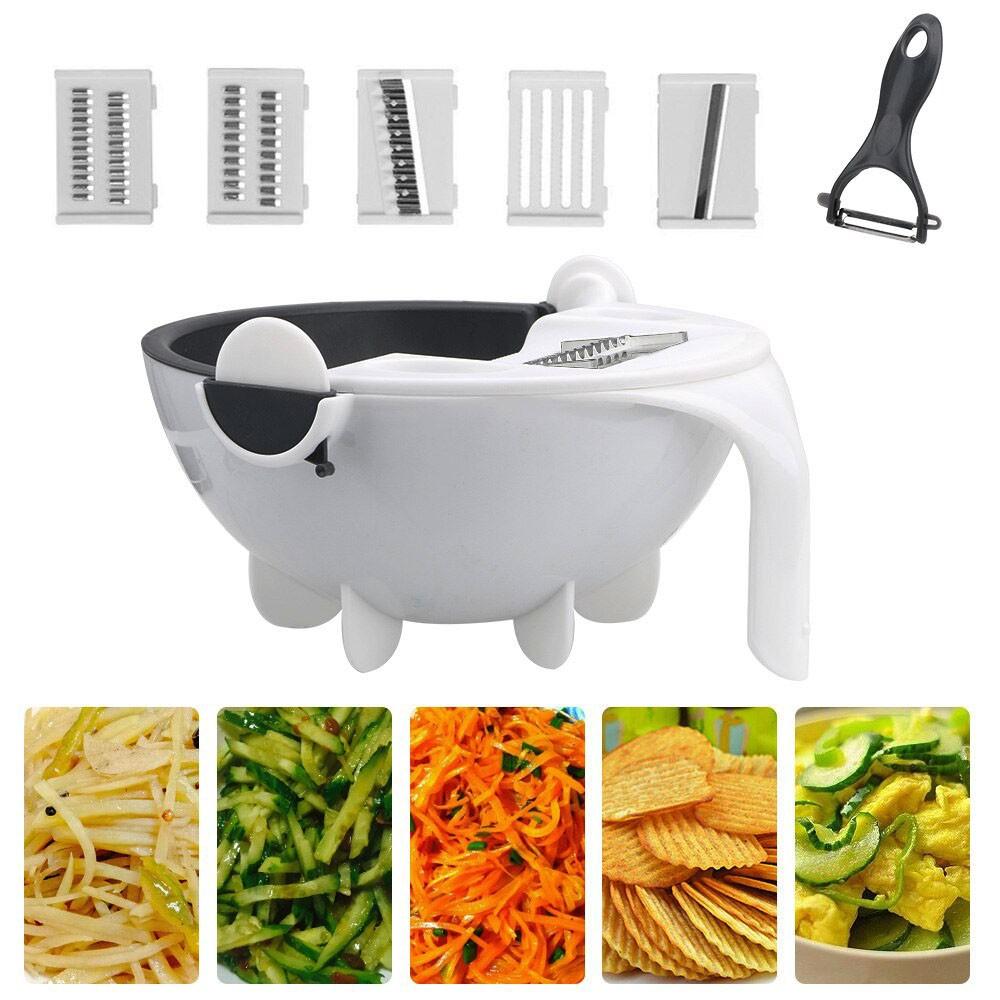 Fatiador Cortador Legumes Salada Frutas Alimentos Cozinha Ralador Escorredor Multifuncional