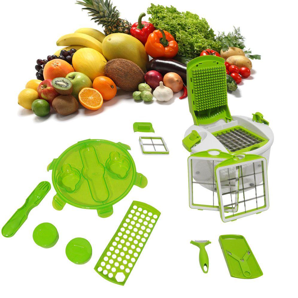 Fatiador De Legumes Frutas Saladas Verduras Cortador Cozinha Multiprocessador
