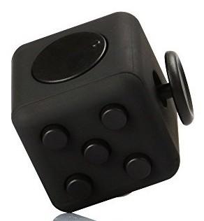 Fidget Cubo Para Ansiedade Mania Cube Spinner Anti Estresse Dedo Apertar Preto (BSL-GIRA-3)
