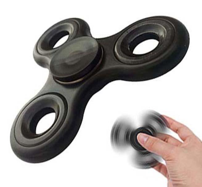 Fidget Hand Spinner Diversao Brinquedo Ansiedade Giro Rolamento Preto (bsl-gira-1)