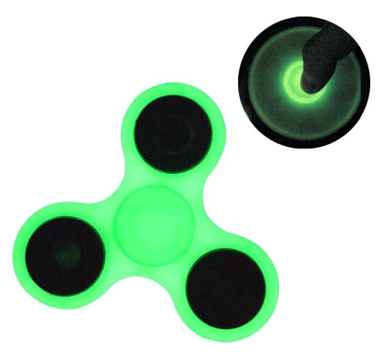 Fidget Hand Spinner Neon Fluorescente Ansiedade Anti Estresse Mania Rolamento Giro Verde (bsl-gira-2)