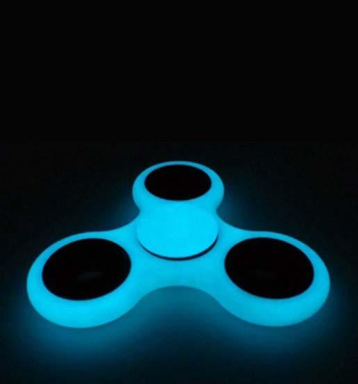 Fidget Hand Spinner Neon Fluorescente Mania Anti Estresse Ansiedade Giro Azul Rolamento Preto (bsl-gira-2)
