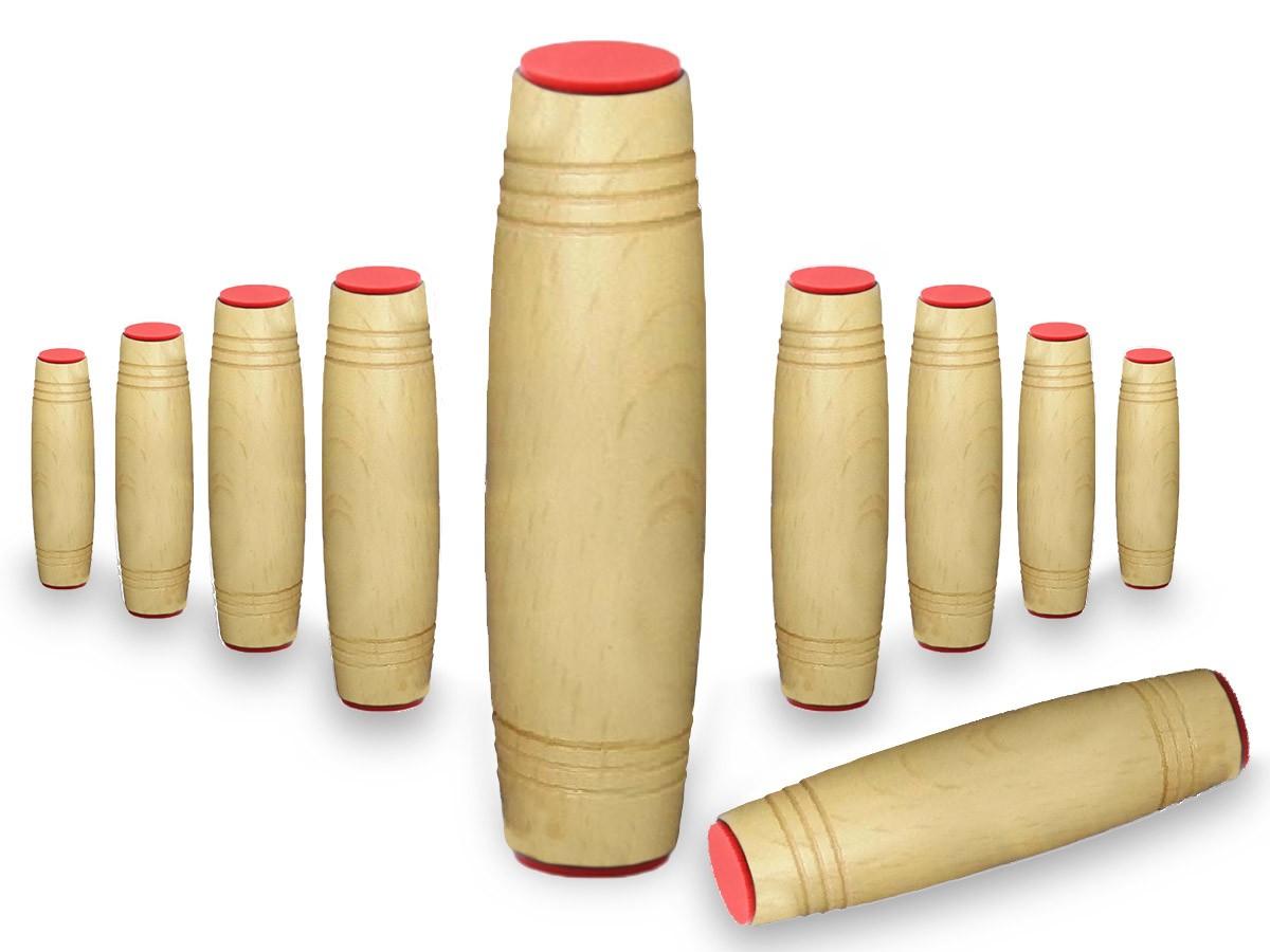 Fidget Mokuru Stick Bastao Roller Anti Stress Madeira Kit com 10 Unidades (bsl-gira-4 mokuru kit-10)