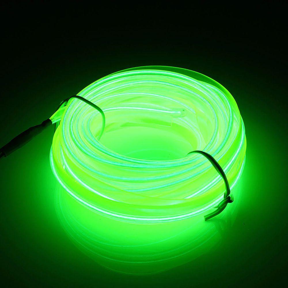 Fita Fio Neon Automotiva Carro 5 metros Led Isqueiro Flexível 12v Verde