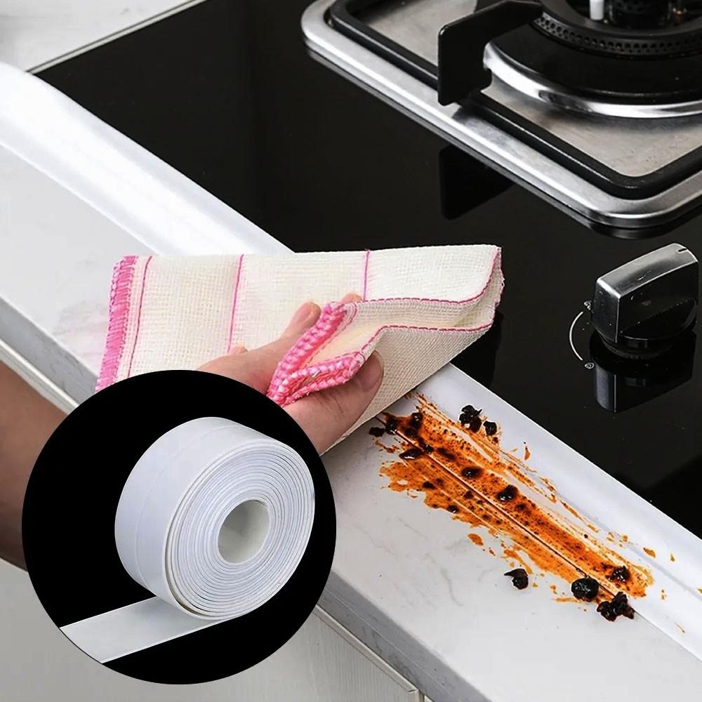 Fita Vedaçao Autoadesiva Parede Impermeavel 40mm Cozinha Pia Banheiro Reparo Decoraçao Casa Multiuso