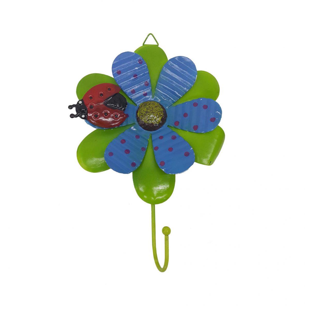 Gancho de Metal Flor Para Chapeu Bolsa Bone Enfeite Pendura Sortido Com 4 Unid (SY53130)