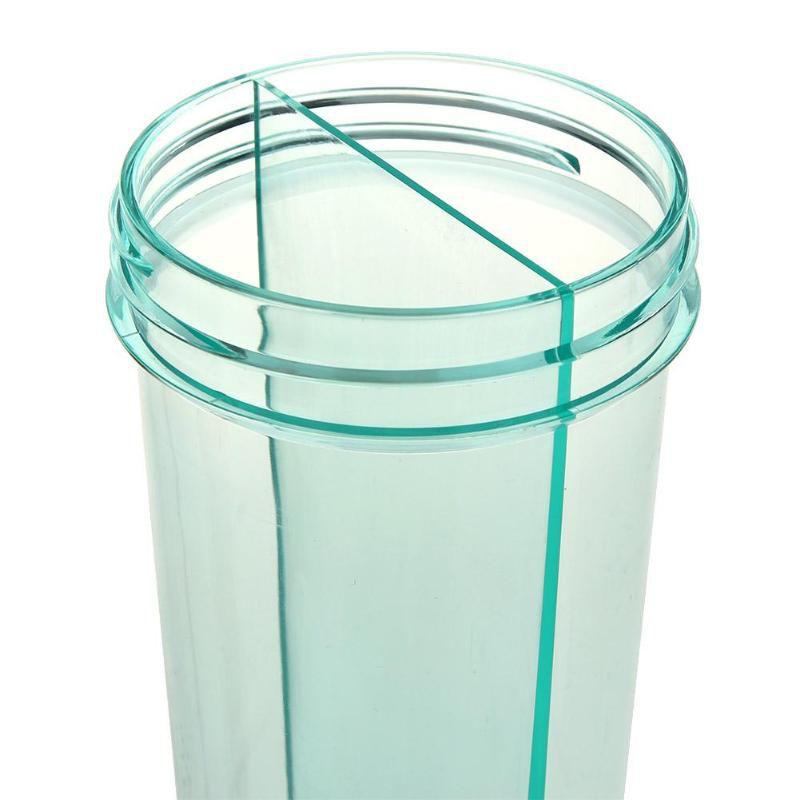Garrafa  de 2  canudos bebida quente fria duplo compartimento  com tampa copo 2 em 1 Azul