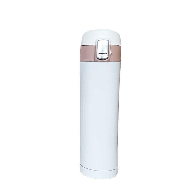 Garrafa Termica Aço Inox 500ml Vacuo Quente Frio Branco (16001/Branco)