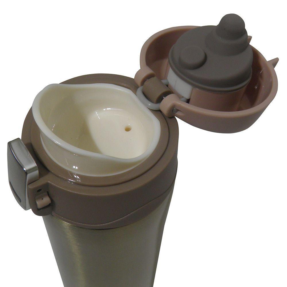 Garrafa Termica Aço Inox Agua Café 500ml Quente Frio Dourado Vacuo (16001/Dourado)