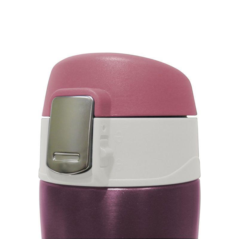 Garrafa Termica Aço Inox Agua Cafe 500ml Quente Frio Rosa Vacuo (16001/Rosa)