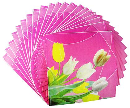 Guardanapo De Luxo Casamento Jantar Festa Descartavel Rosa kit com 5 (GU-1101)