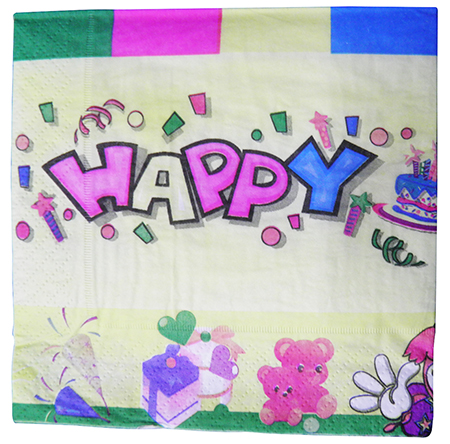 Guardanapo De Luxo Casamento Jantar Festa Descartavel  Amarelo kit com 5 ( GU-1102 Happy )