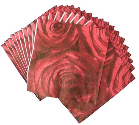 Guardanapo De Luxo Casamento Jantar Festa Descartavel Vermelho kit com 5 (GU-1101)
