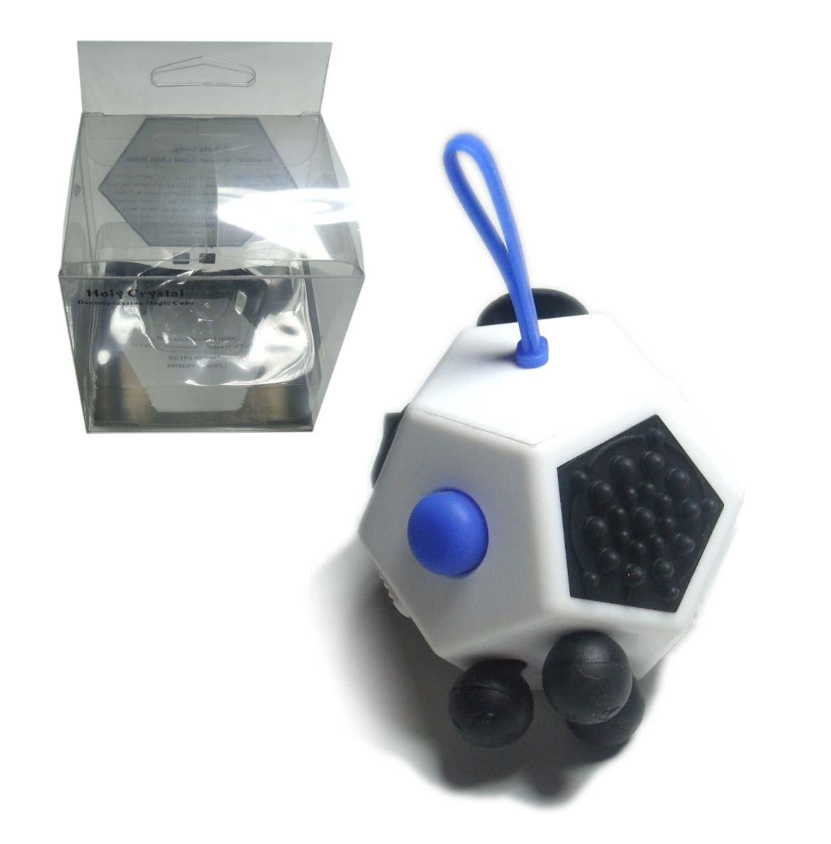 Hand Fidget Cubo 12 Lados Dodecaedro Dedo Apertar Anti Estresse Ansiedade Branco (bsl-gira-13)