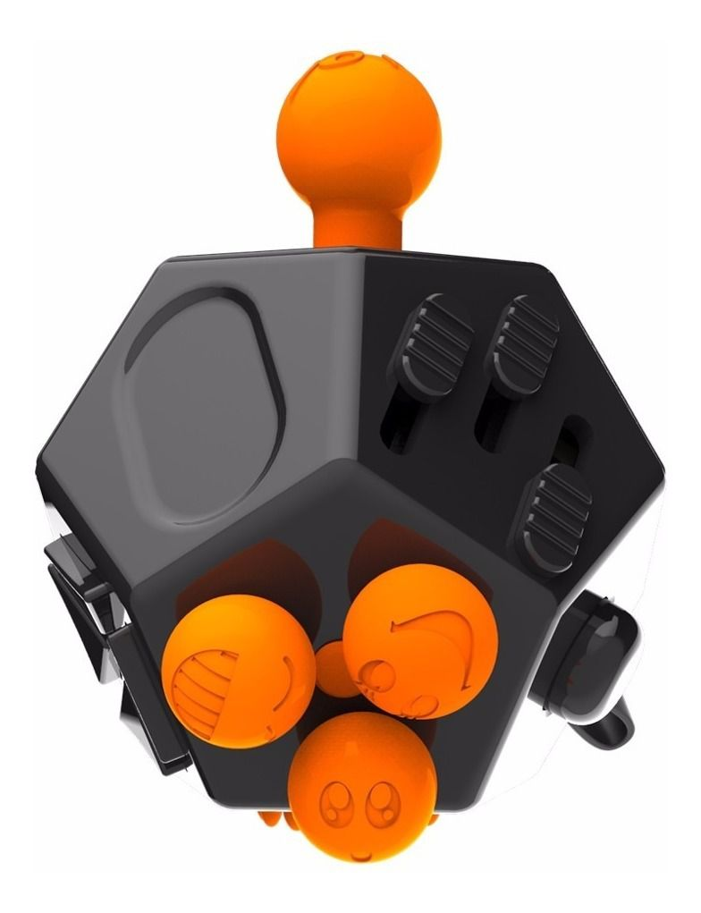 Hand Fidget Cubo 12 Lados Dodecaedro Dedo Apertar Anti Estresse Ansiedade Branco