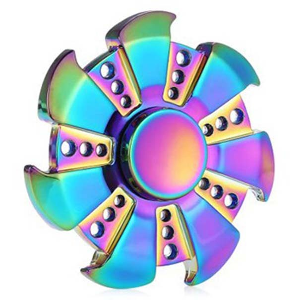 Hand Spinner Fidget Colorido Arco Iris Giro Ansiedade Estresse Feito Em Ferro (bsl-gira-6)