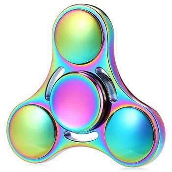 Hand Spinner Fidget De Metal Arco Iris Ansiedade Mania Anti Estresse Relaxamento Giro (bsl-gira-7 estrela)