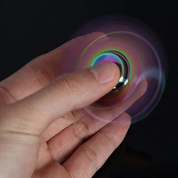 Hand Spinner Fidget De Metal Circular Arco Iris Mania Ansiedade Anti Estresse Giro (bsl-gira-7 circular)