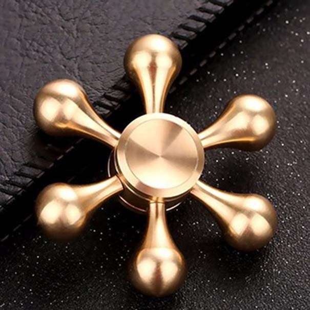 Hand Spinner Fidget De Metal Desmontavel Leme Dourado Mania Gira Ansiedade Anti Estresse (bsl-gira-9)