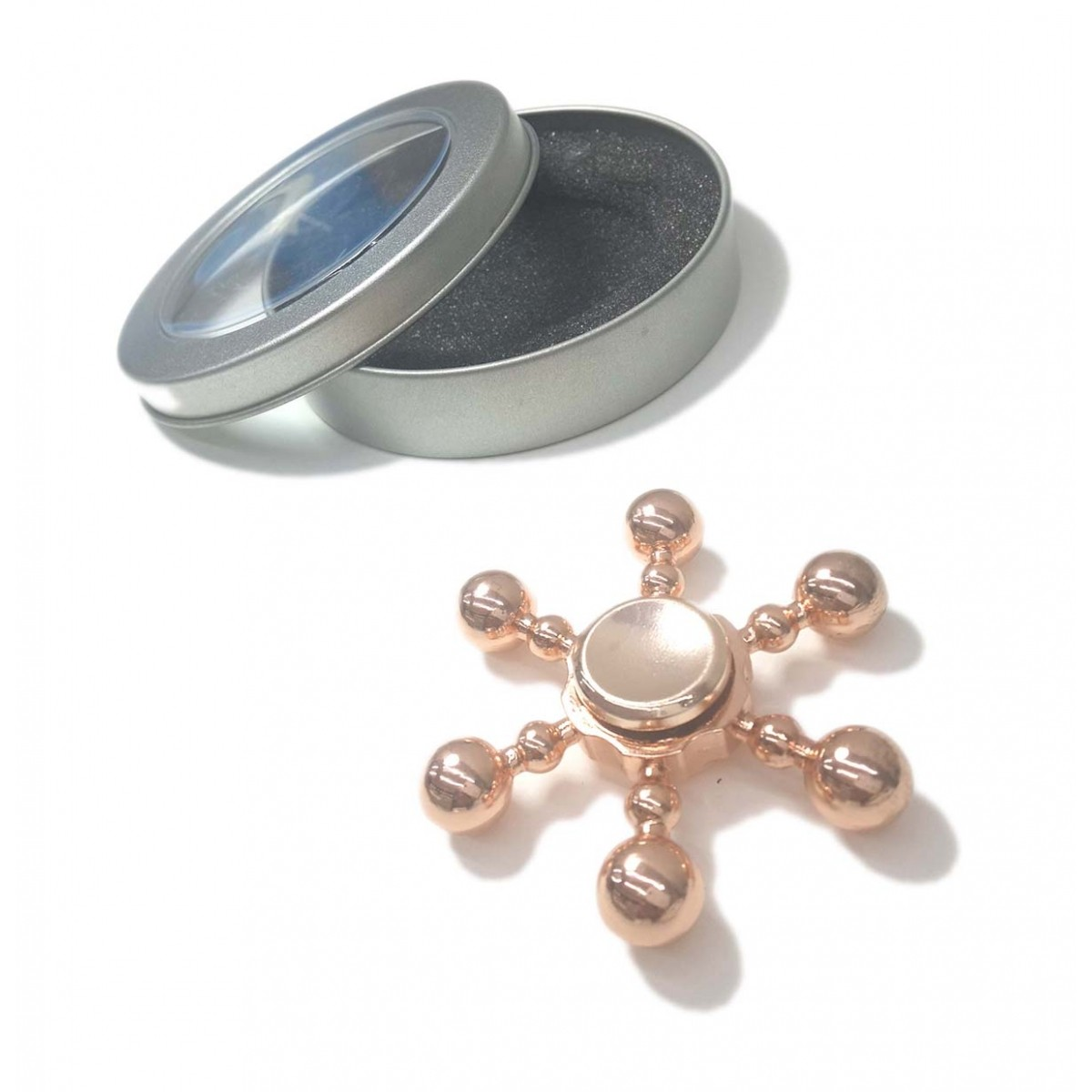 Hand Spinner Fidget De Metal Leme Cobre Mania Gira Ansiedade Anti Estresse (bsl-gira-10)