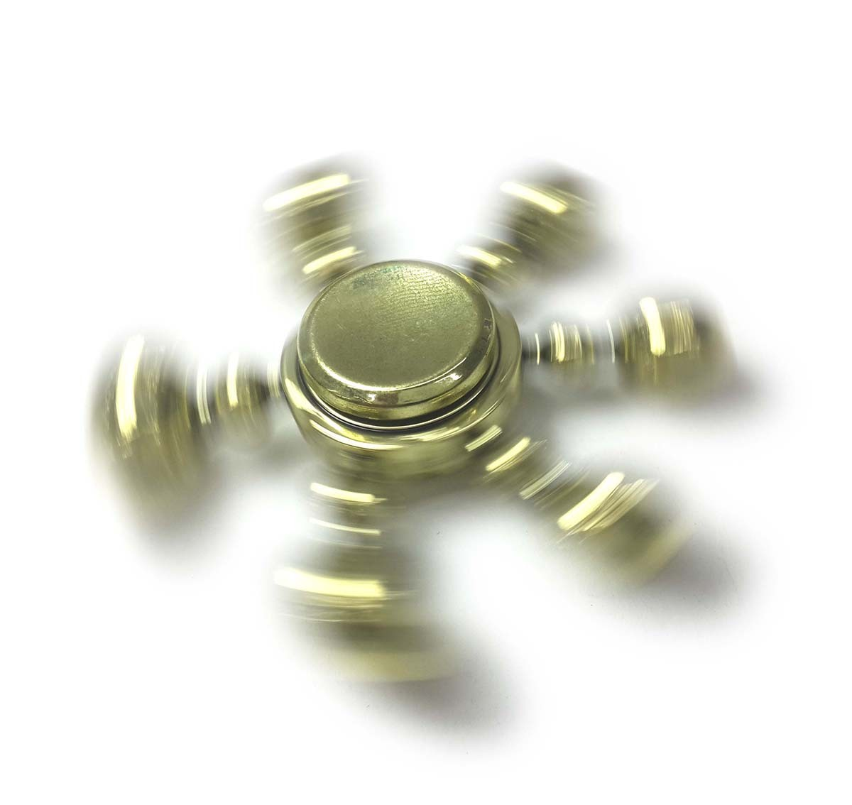 Hand Spinner Fidget De Metal Leme Dourado Mania Gira Ansiedade Anti Estresse (bsl-gira-10)
