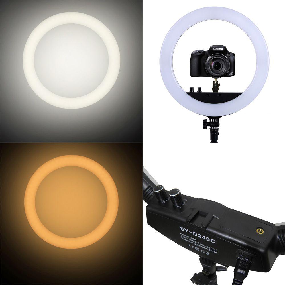 Iluminador Foto Com Tripe Ring Light Kit Youtuber Celular