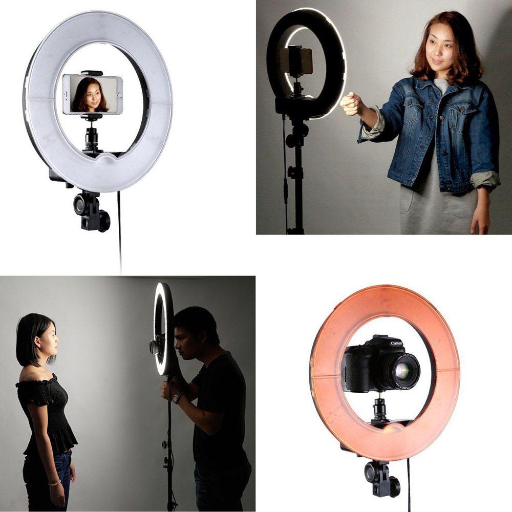 Iluminador Grande Ring Light Kit Youtuber Filmagem Maquiagem Foto Celular