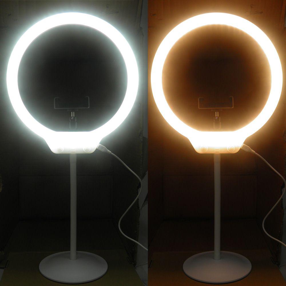 Iluminador Maquiagem Foto Ring Light Kit Youtuber Usb Celular