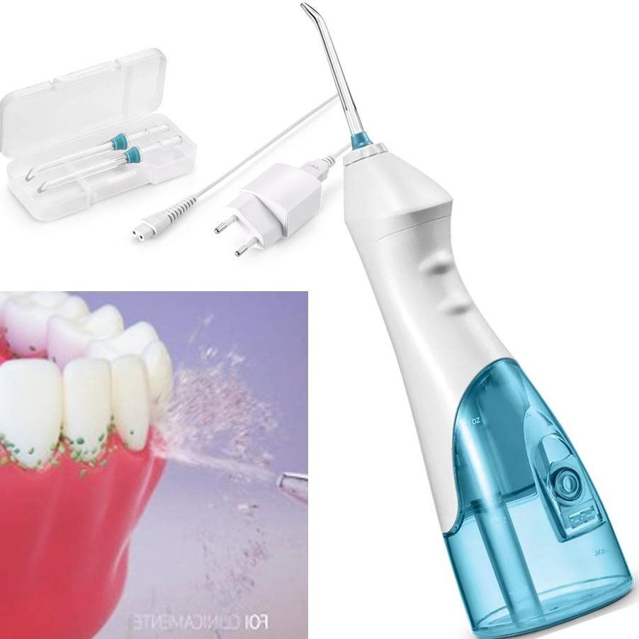 Irrigador 2 Bicos Recarregavel Limpa Dente Oral Bucal Bivolt (HC036)