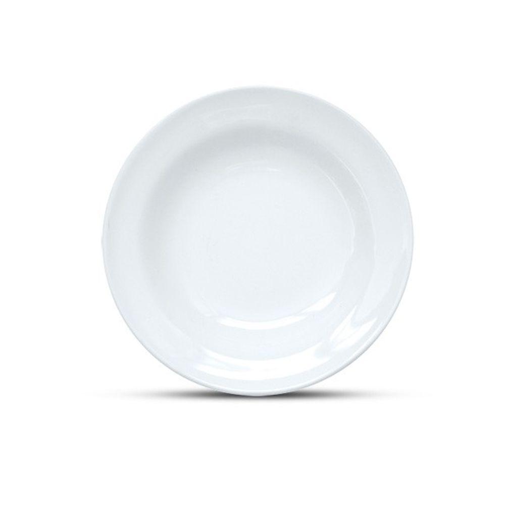 Jogo De Pratos Jantar Xicara Pires Ceramica 20 Pçs Branca Cozinha