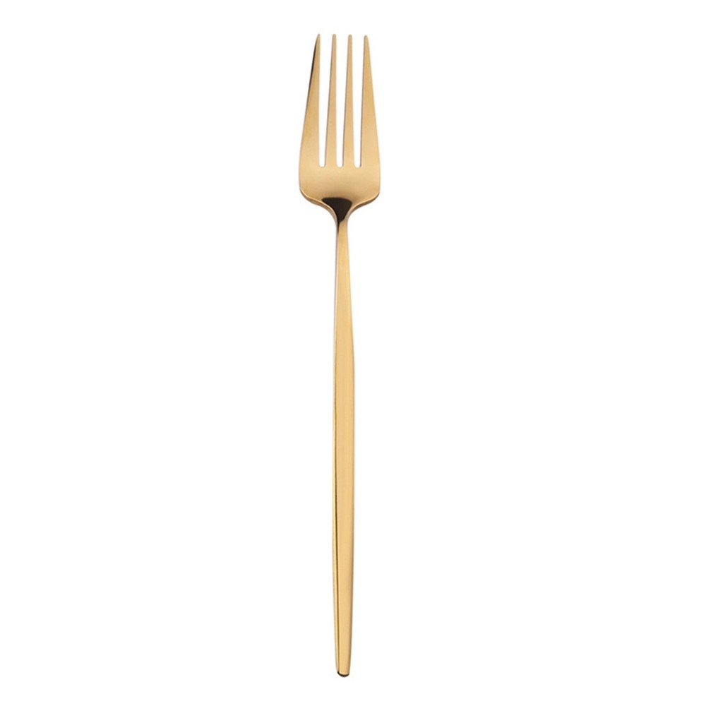 Jogo de Talheres 4 Peças Conjunto Luxo Dourado Goumet Jantar Cozinha Mesa Colher Garfo Faca