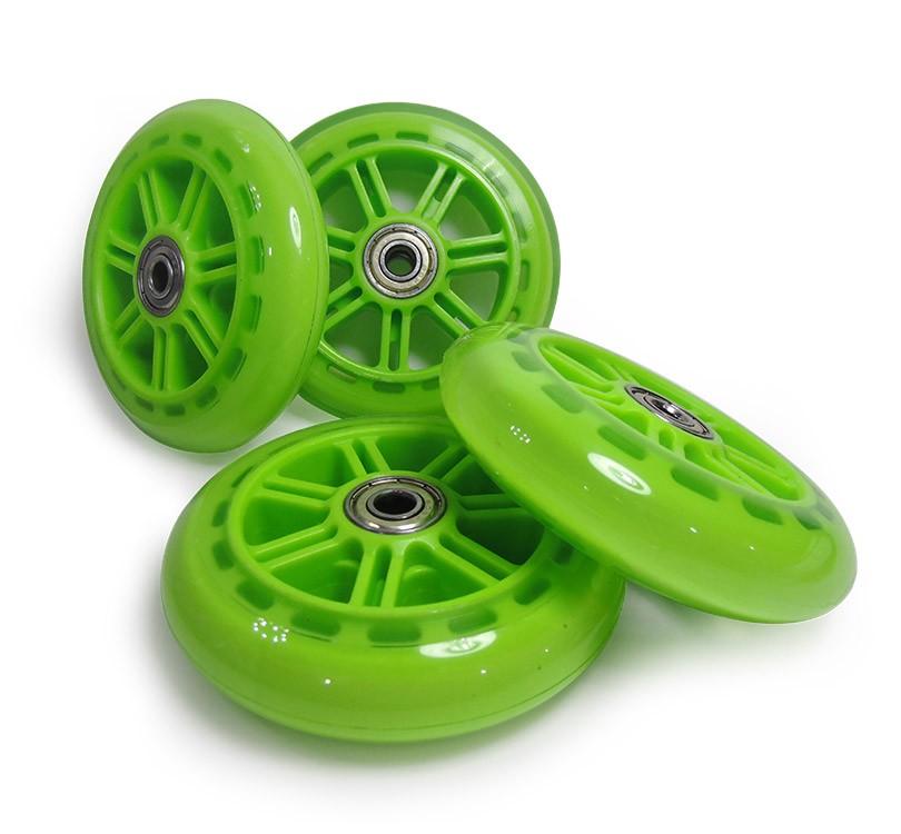 Kit 04 Rodas de Patins Patinete Rolamento Abec 7 Rodinhas Verde (RA-C)
