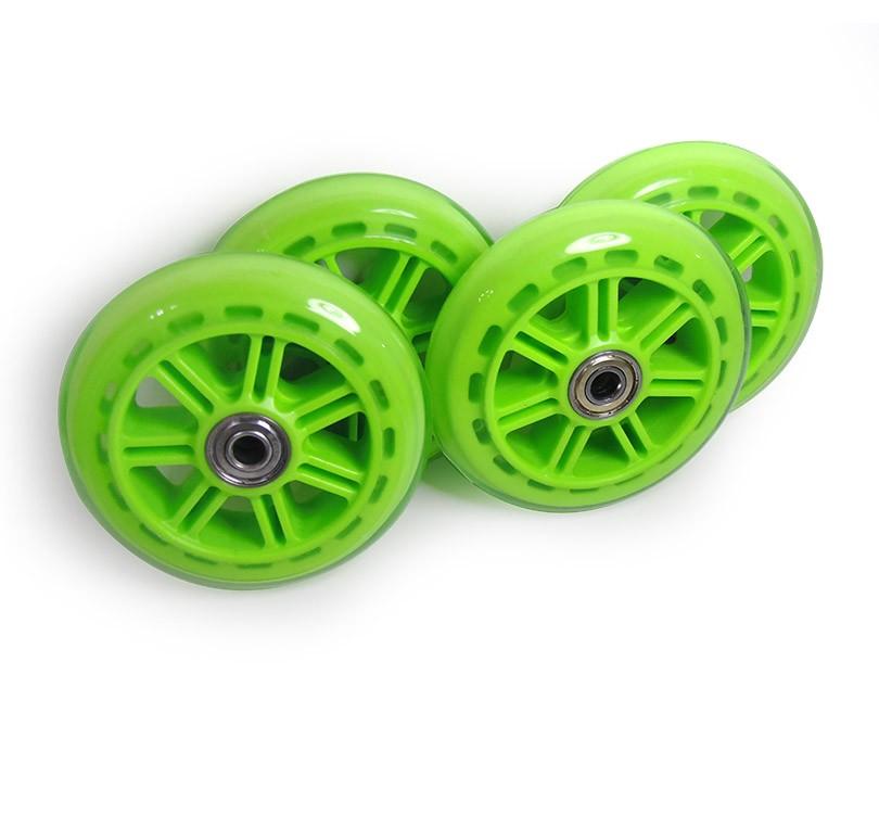 Kit 08 Rodinhas Patins Abec 7 Roda de Silicone Verde (RA-C)