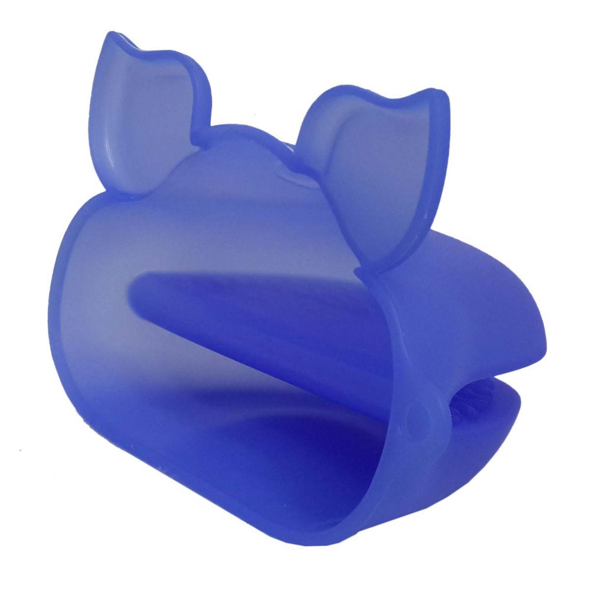 Kit 2 Luvas Termica De Silicone Pegador Fogao Forno Cozinha Par Azul Escuro (sili-8)