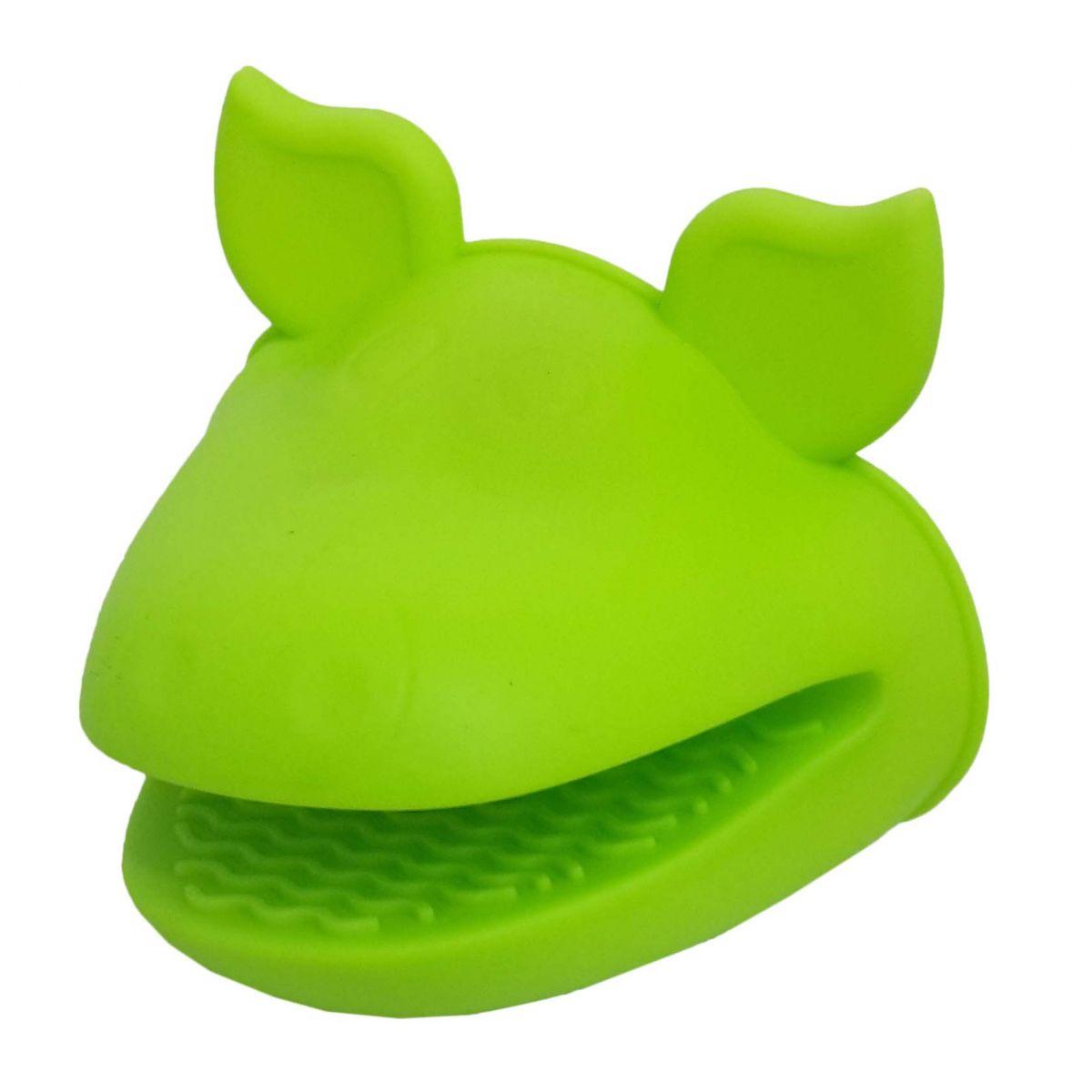 Kit 2 Luvas Termica De Silicone Pegador Fogao Forno Cozinha Par Verde (sili-8)